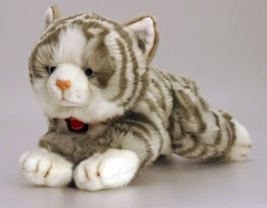 Keel Toys 30cm Laying Cat (Jade Grey)