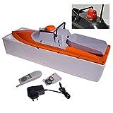 RC Boot Futterboot - Köderboot - Baitboat – 1AL-20A Orange Grau + vores Licht