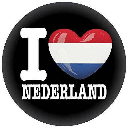 Button / Badge / Pin -- I Love Niederlande Fahne Flagge (I Love Nederland)