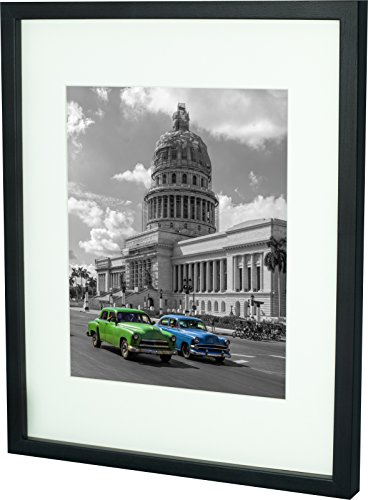 28 x 35 cm Bilderrahmen mit Passepartout 20 x 25 cm, Wenge
