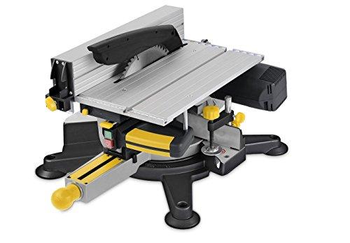 PowerPlus POWX07582 Sierra ingletadora con mesa superior, 1800 W, 240 V, 254 mm