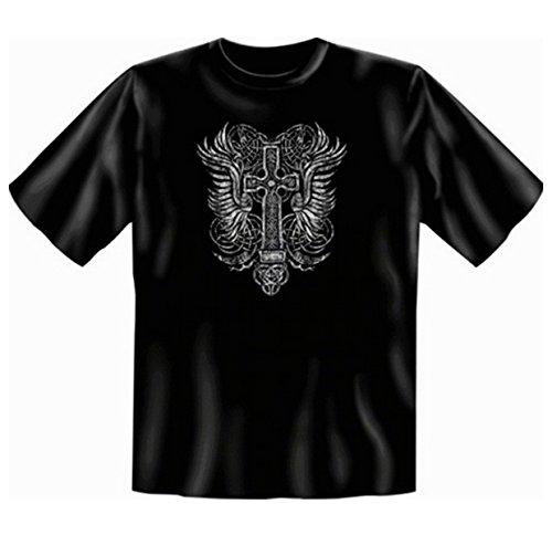 Gothic Cross T-shirt: Kreuz Fb schwarz Größe XXL