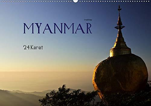 Myanmar - 24 Karat (Wandkalender 2020 DIN A2 quer): Vergoldete heilige Statuen und Pagoden ziehen Pilger wie Touristen in ihren Bann. (Monatskalender, 14 Seiten ) (CALVENDO Orte)