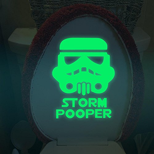 ShopSquare64 Miico Kreative Filmrolle Krieger Leuchtende PVC Removable Home Bad Dekorative Schalter Tür Dekor Aufkleber