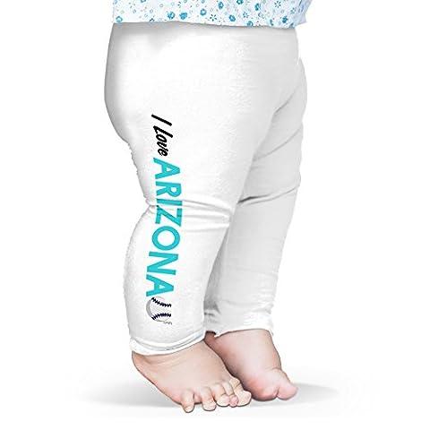 Twisted Envy Baby I Love Arizona Baseball Leggings Trousers 6 - 12 Months White
