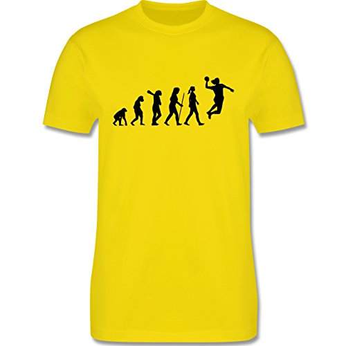 Evolution - Handball Evolution - Herren Premium T-Shirt Lemon Gelb
