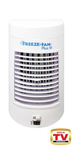 Freeze fan plus, l'originale visto in tv. mini condizionatore d'aria portatile 3 in 1: rinfresca l'aria, umidifica, purifica l'aria. funziona ad acqua. perfetto per casa – ufficio – camper – campeggio. leggerissimo, lo porti dove vuoi