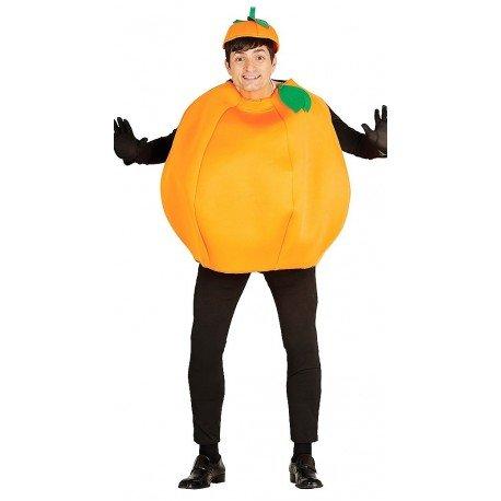 Riesen Orange Karneval Fasching Party Kostüm für Erwachsene Orangen Obst Gr. M/L, Größe:L