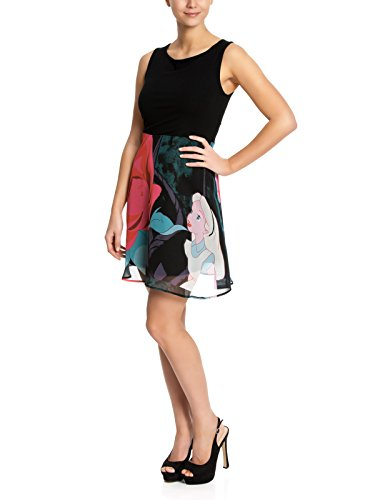 Walt Disney Alice in Wonderland - Flower Abito nero XS