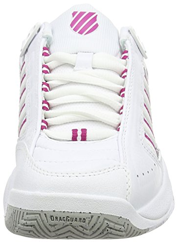 K-Swiss Defier Rs, Scarpe da Tennis Donna Bianco (White/veryberry)