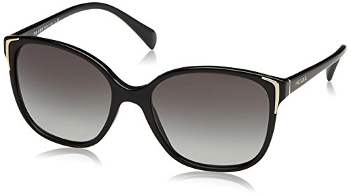 Prada 0pr01os 1ab3m1 55 occhiali da sole, nero (black/grey gradient), donna