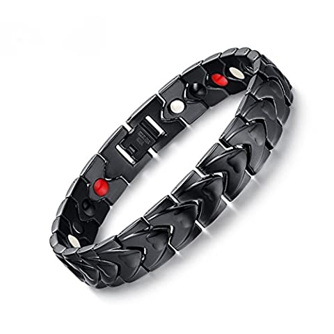 Murtoo Energy Magnetic Therapy Bracelet, Pain Relief Titanium Men's Stainless