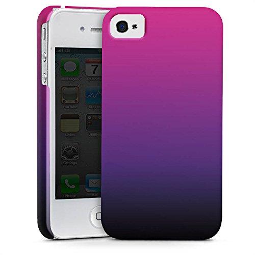 Apple iPhone X Silikon Hülle Case Schutzhülle Pink Schwarz Farbverlauf Premium Case glänzend