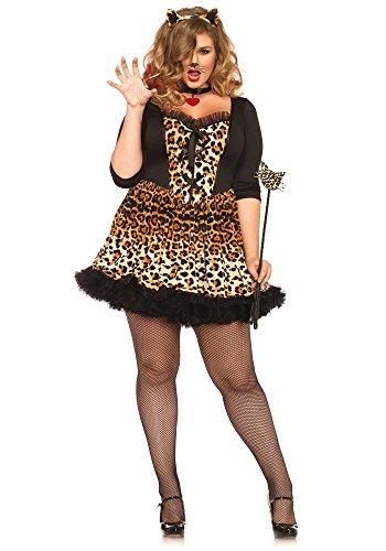 Leg Avenue 85504X – Wildcat Kostüm, Größe 3X-4X (EUR 48-50)
