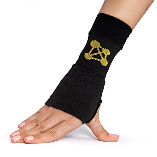 CopperJoint Copper Wrist Support, 1 Compression Sleeve - Guaranteed Recovery from Pain, Sprains, Carpal Tunnel, Bursitis, Tendonitis, Arthritis - Single Brace (Right - Medium)
