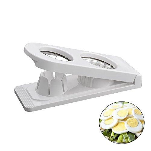 Eierschneider, Umiwe Edelstahl gekocht Eierschneider 2 in 1 Schneider & Zerkleinerer weiß Egg Slicer Mozzarella Slicer