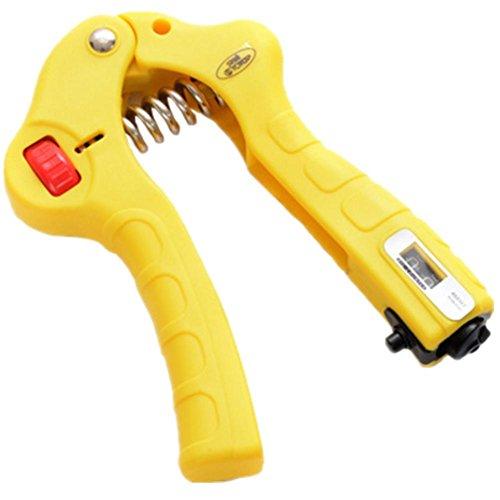 GJA Fitnessgeräte Feder Griff Griff kann einstellbar Zähler Maus-Hand Kunststoff sein (Elektronisches Dynamometer)