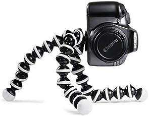 DALBIRZ Gorillapod Tripod 10-inch for Mobile/DSLR for Canon, Nikon, Sony Camera DSLR(Black and White)