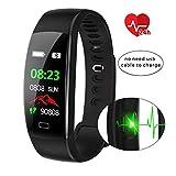 IFOXTEK Fitness Tracker,Wasserdicht IP68 Fitness Armband mit Pulsmesser 0,96 Zoll Farbbildschirm Smartwatch Aktivitätstracker Pulsuhren Schrittzaehler Uhr Smart Watch Fitness Uhr