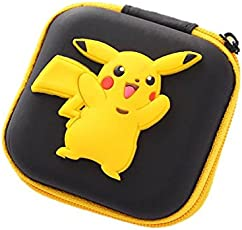 Oytra Pokemon Go Earphone Pouch (Square - Size - 7 cm x 7 cm) | Birthday Gift for Girls & Kids | Pikachu