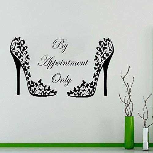 qwerdf Wall Sticker High Heels Muster Styling Wand Decal Shoe Vinyl Aufkleber Pumpe Plattform Schuhe Fashion Girl Modell 98 * 57cm Girls Plattform
