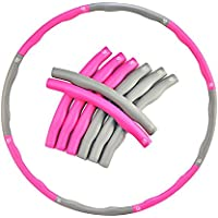 EVER RICH ® FitnessWave Weighted 1.2kgs Fitness Exercise Hula Hoop - Pink/Grey