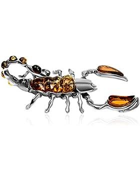 Bernstein Sterling Silber Groß Skorpion Anhänger
