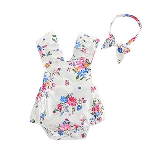 squarex Baby Mädchen (0-24 Monate) Sweatanzug weiß weiß 0-6 Monate