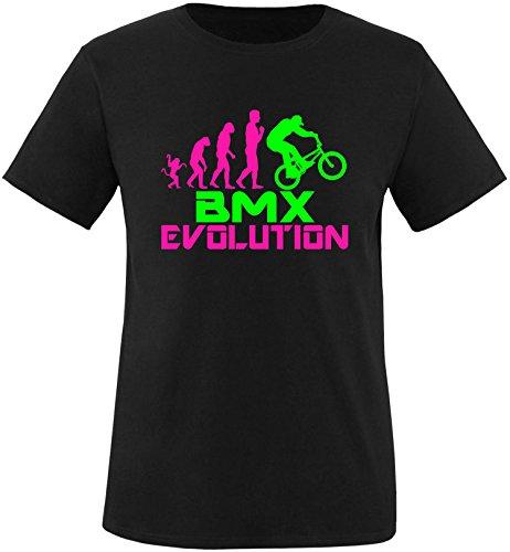 EZYshirt® BMX Evolution Herren Rundhals T-Shirt Schwarz/Pink/Neongr