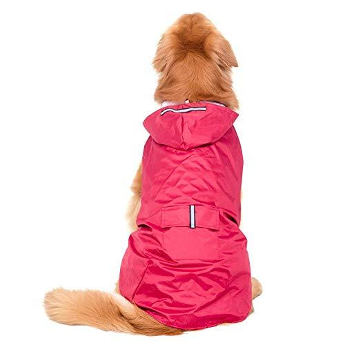 Ksruee Chaqueta Impermeable para Perros Chubasquero para Mascotas Capa Impermeable Ligera Encapuchada para Perros