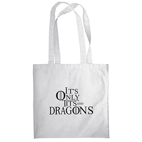 Texlab–Tits and Dragons–sacchetto di stoffa Bianco