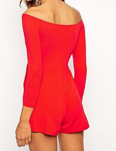 GSP-Combinaisons Aux femmes Manches Longues Sexy/Décontracté/Soirée Spandex/Polyester Fin Elastique black-one-size