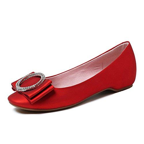Fashion Lady TOU Shui chaussures de diamant/bouche douce et peu profonds arc wedges shoes/Version coréenne du souliers pour dames tendon à la fin de C