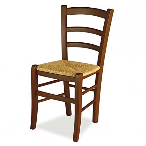 Set 2 sedie venezia - rovere 176 sedile paglia