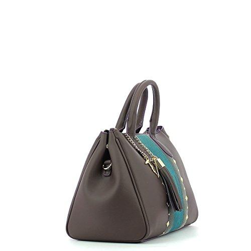 1d183ca642 ... Trussardi Jeans Blondie Ecoleather Stud Tote Medium Bag Borsa a mano 30  cm Brown ...