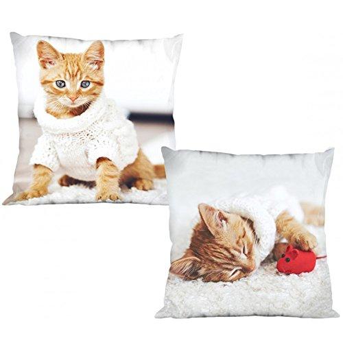 Katze mit Pullover wendbar Dekorative Kissenhülle Kissenbezug Fall Home Decor