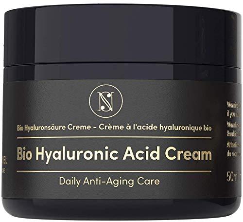 EINFÜHRUNGSANGEBOT Bio Hyaluronsäure Anti Aging Gesichtscreme - 50ml Glastiegel -...