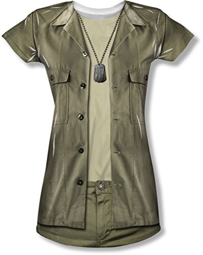M*A*S*H - Junge Frauen Hawkeye-Kostüm-T-Shirt, Medium, (Kinder Kostüme H&m Für)