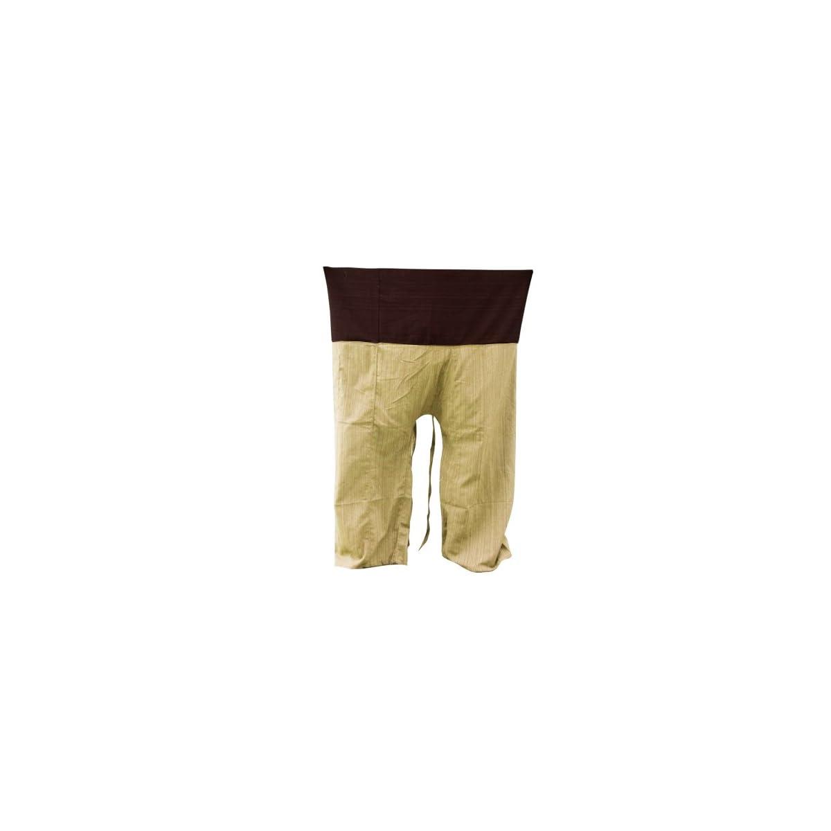 a235bc681097b 2 TONE Thai Fisherman Pants Yoga Trousers FREE SIZE Plus Size Cotton ...