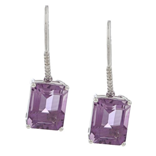 10k-white-gold-emerald-cut-amethyst-and-diamond-earrings