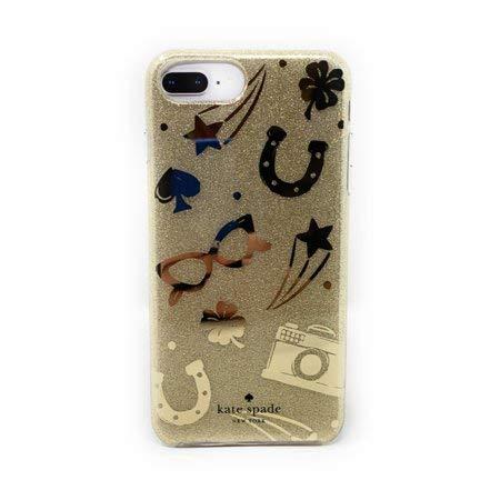 Kate Spade New York Protective Hardshell Case Gold Foil/Charm Toss Gold Glitter (Kate Geldbörse Glitter Spade)