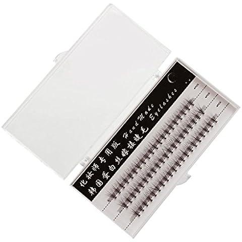 60pcs Ojo Pestañas De Extensión De Pestañas Falsas Del Ojo Persona Pestaña Racimo - 10mm, Negro