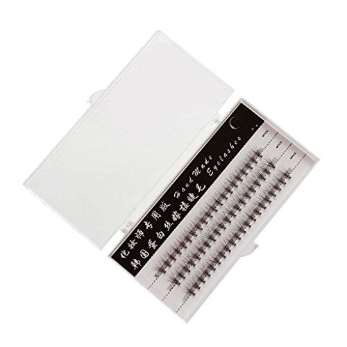 60pcs Extension de Cils Faux Cils Oeil Individuel Noir 9mm