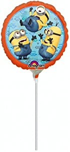 ANAGRAM 7A2995609 - Balón de fútbol Mini (23 cm), diseño de Minion-Si hinchado por Aire, Multicolor