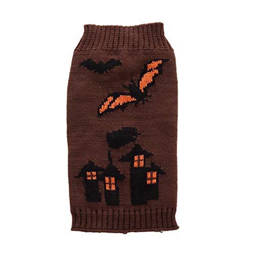 Vividda Chihuahua Haustier Hund Gestrickte Pullover Welpen Winter Warme Halloween Mantel Bekleidung ()