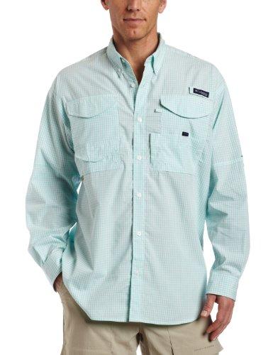 Columbia Sportswear Super Bonehead Classic Langarmshirt M Gulf Stream Gingham - Columbia Bonehead Shirt Angeln