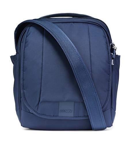 Pacsafe Metrosafe LS200 Anti-Diebstahl Nylon Umhängetasche für Damen und Herren, Schultertasche mit Diebstahlschutz, Tasche mit Sicherheits-Features - 7 L Uni, Blau/Deep Navy (Crossbody Anti-diebstahl-taschen)