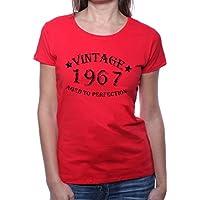 Mister Merchandise Donne Donna Camicetta T-Shirt Vintage 1967 Aged To