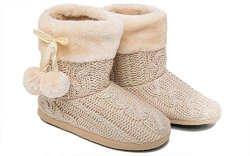 Mädchen Schuhe Weichen Poms Beige Mit Hausschuhe Damen Pantoffeln PAqzdwUP