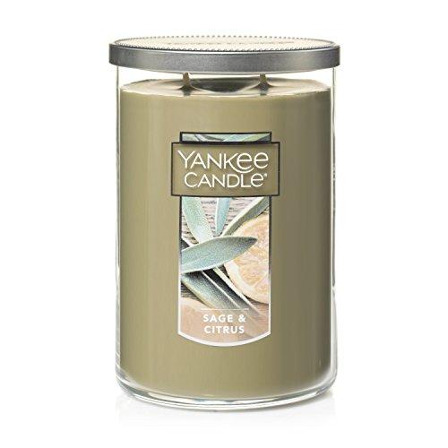 Yankee Candle 1122803 Duftkerze im Glas, groß, 2 Dochten, Salbei und Zitrus - Zitrus Duftkerze